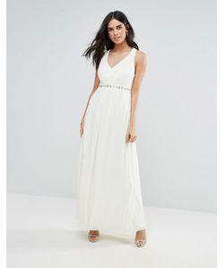 Uttam Boutique | Платье Макси С Декоративной Отделкой