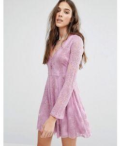 Honey Punch | Кружевное Короткое Приталенное Платье