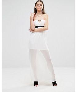 Twin Sister | Платье Макси Без Рукавов С Вырезом