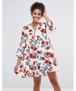 Glamorous | Платье С Завязкой На Горловине И Цветочным Принтом