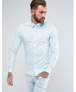 Asos | Бледно-Голубая Облегающая Рубашка
