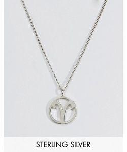 Fashionology   Серебряное Ожерелье Со Знаком Зодиака Овен