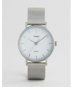 Timex | Серебристые Часы С Сетчатым Ремешком Fairfield 37 Мм