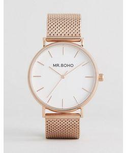 Mr Boho | Часы Цвета Розового Золота С Сетчатым Браслетом