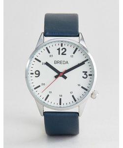 Breda | Часы С Темно-Синим Кожаным Ремешком Slate