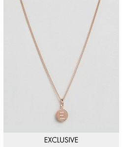 Katie Mullally | Ожерелье С Покрытием Из Розового Золота И Подвеской С Буквой E