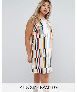 Junarose | Разноцветное Платье Без Рукавов