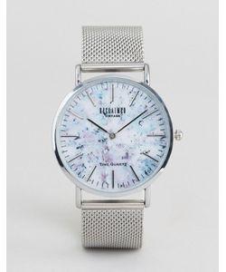 Reclaimed Vintage | Часы С Мраморным Принтом И Серебристым Сетчатым Ремешком