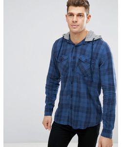 New Look | Темно-Синяя Рубашка Классического Кроя В Клетку