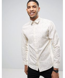 Selected Homme | Приталенная Оксфордская Рубашка С Принтом