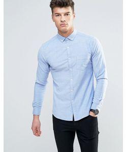 Asos | Супероблегающая Голубая Оксфордская Рубашка