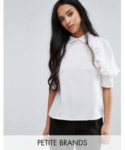 Fashion Union Petite   Блузка С Оборкой