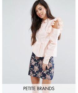 Fashion Union Petite   Рубашка С Оборками На Плечах