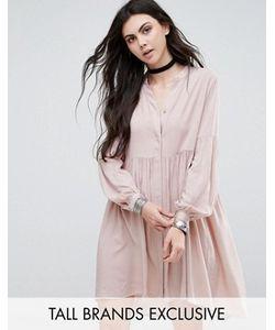 Glamorous Tall   Короткое Приталенное Платье Со Складками