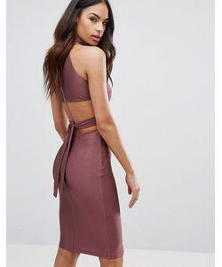 NaaNaa   Платье С Высокой Горловиной И Вырезами