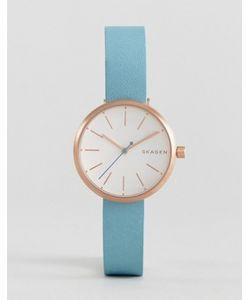 Skagen | Фирменные Часы С Кожаным Ремешком