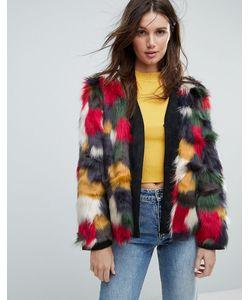 Jayley | Разноцветная Куртка Из Искусственного Меха