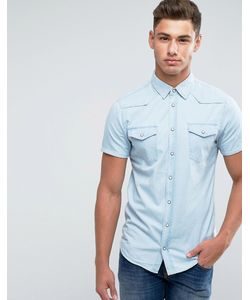 Blend   Джинсовая Рубашка С Короткими Рукавами