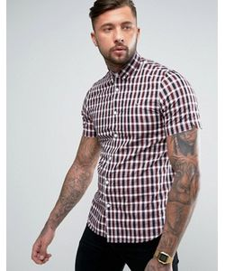 Fred Perry | Рубашка С Короткими Рукавами В Клеточку