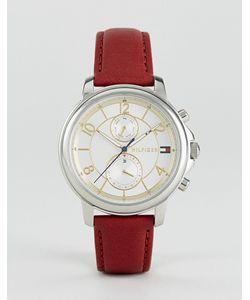 Tommy Hilfiger | Часы С Хронографом И Красным Кожаным Ремешком 1781816