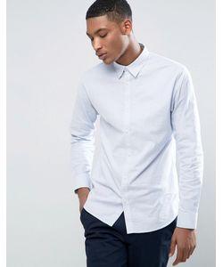 Selected Homme | Приталенная Эластичная Оксфордская Рубашка