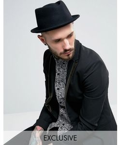 Reclaimed Vintage | Черная Шляпа С Загнутыми Кверху Полями Inspired