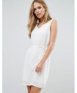 Vila | Цельнокройное Платье Без Рукавов С V-Образным Вырезом
