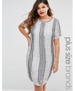 Lovedrobe Luxe   Цельнокройное Платье С Отделкой