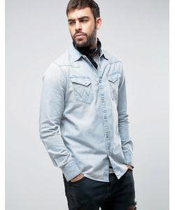 Wrangler | Узкая Джинсовая Рубашка В Стиле Вестерн