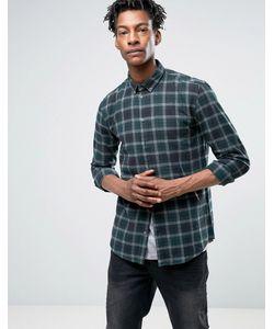 Minimum | Клетчатая Рубашка Узкого Кроя На Пуговицах Из Хлопка С Начесом