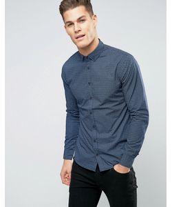 Blend   Узкая Рубашка С Перекрестным Принтом