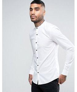 Asos | Супероблегающая Рубашка С Воротом На Пуговице