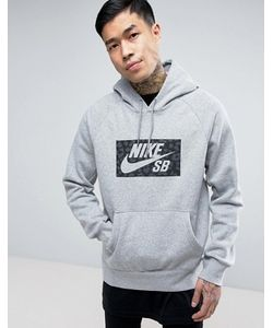 Nike SB | Icon Pull Over Hoodie With Logo Print In