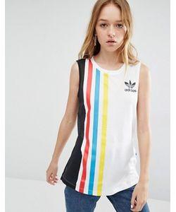 Adidas | Майка С Сетчатой Вставкой И Тремя Полосками Originals Primary