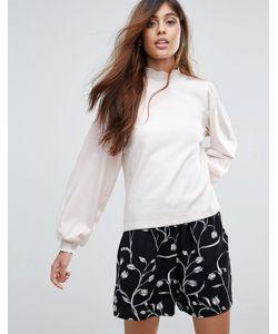 Vero Moda | Топ С Высоким Воротом И Пышными Рукавами