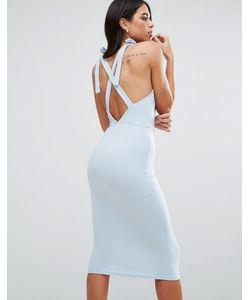 Oh My Love | Платье Миди С Запахом И Перекрестами На Спине