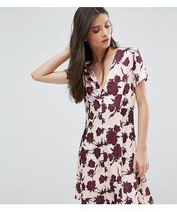 Alter Petite | Платье На Пуговицах С Короткими Рукавами И Цветочным Принтом