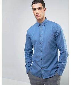 Solid | Джинсовая Рубашка Классического Кроя С Эффектом Выцветания