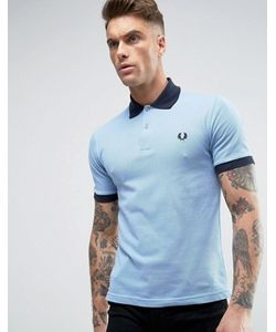 Fred Perry Laurel Wreath | Fred Perry Reissues Polo Contrast Rib In Sky Navy