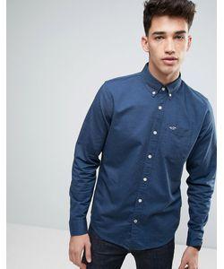 Hollister | Темно-Синяя Оксфордская Рубашка Слим