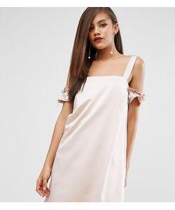 ASOS TALL | Атласное Цельнокройное Платье С Вырезами На Плечах