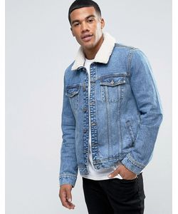 Brooklyn Supply Co. | Голубая Куртка С Искусственным Мехом Brooklyn Supply Co