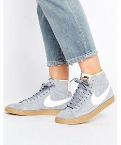 Nike | Замшевые Кроссовки Средней Высоты Blazer