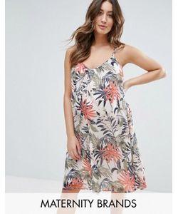 Mama Licious | Тканое Платье Без Рукавов С Пальмовым Принтом Mama.Licious
