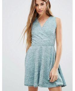 Wal G | Короткое Приталенное Платье С Запахом Спереди