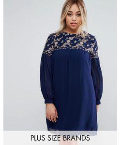 Little Mistress Plus | Цельнокройное Платье С Цветочной Вышивкой