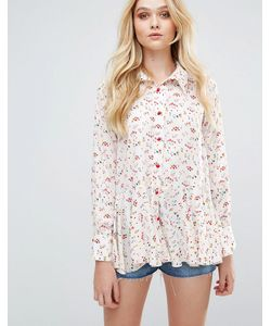 Love | Рубашка С Принтом И Оборками