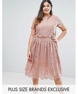 Truly You | Двухслойное Кружевное Платье С Короткими Рукавами