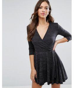 Wal G | Короткое Приталенное Платье С Запахом