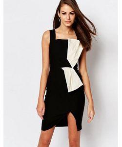 Vesper | Платье Миди С Контрастной Вставкой Hallie